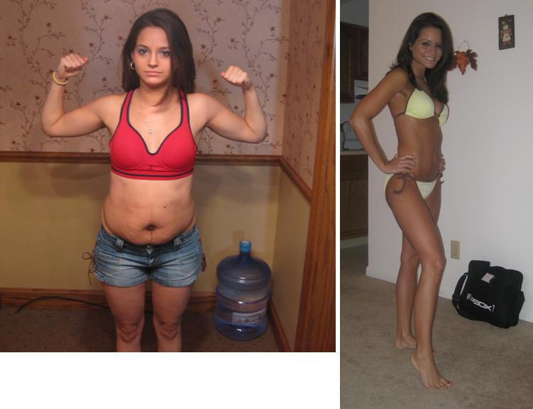 So, here are Melinda's P90X before and after pictures. P90X Before and After
