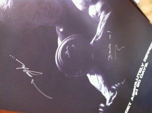 Tony Horton Signed Poster 2